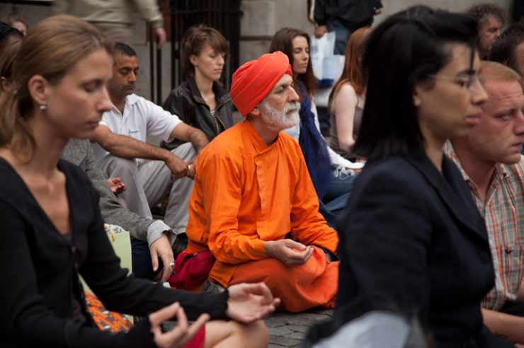 Image for Flash mob meditations awaken public interest