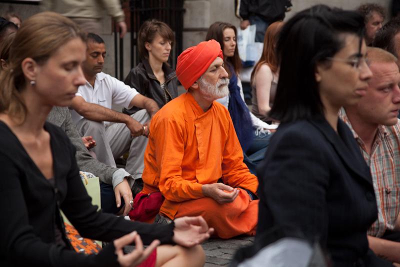 Image for Flash mob meditations awaken public interest