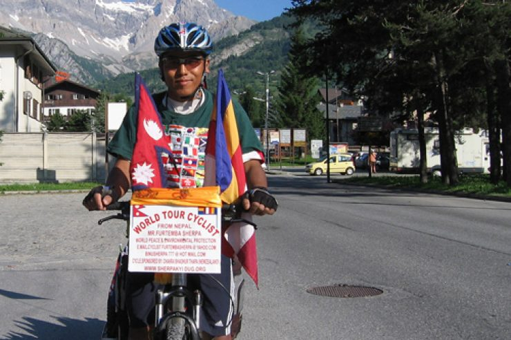 Image for Nepali cyclist reaches halfway point in world tour promoting social justice