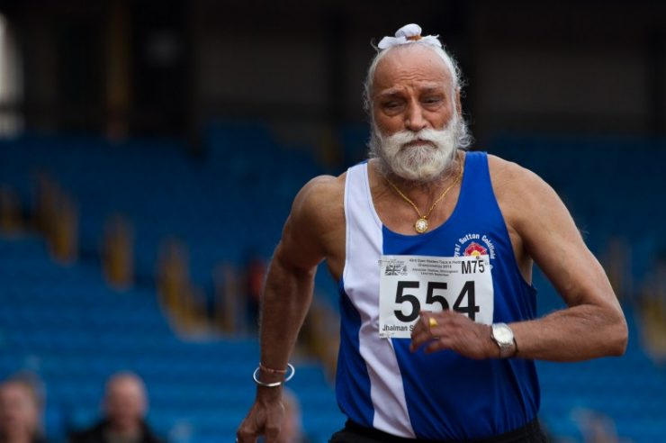 Image for Elderly athletes defy age stigma