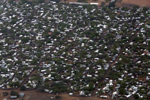 aerial Views of Ifo 2 Refugee camp in Dadaab, Kenya
