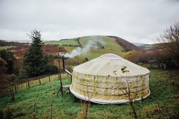 Francesca Cassini's Yurt on Old Chapel Farm