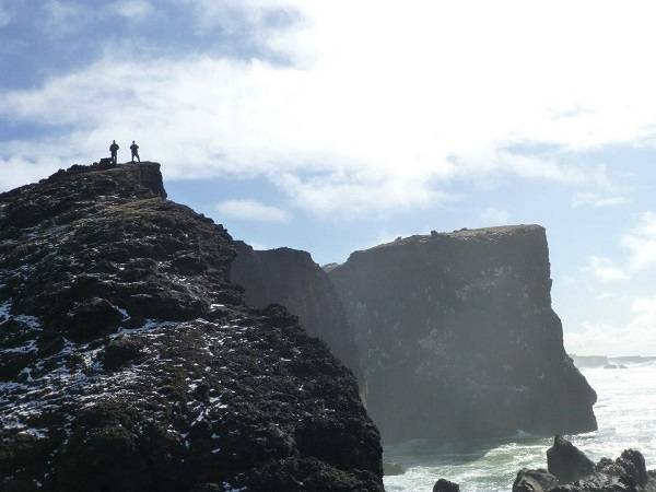 Towering cliffs on the Icelandic coast. Photo by Lucy Purdy