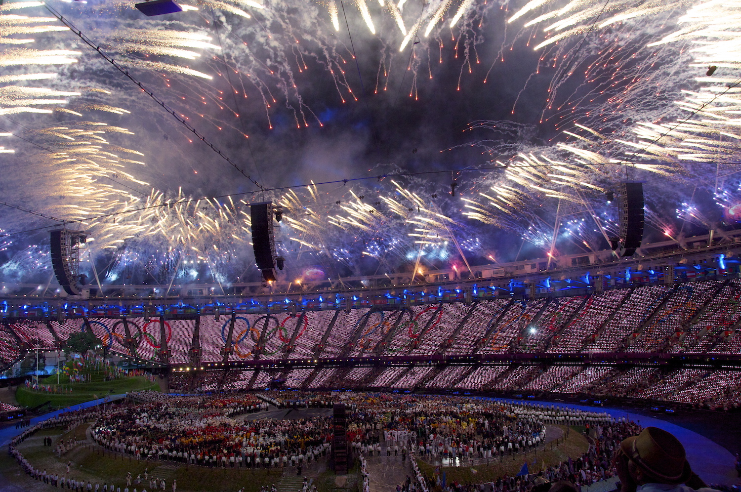 The London 2012 Olympics opening ceremony.