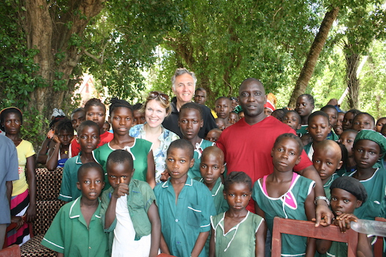 Jerry Lockspeiser's visit to the Millione schools project in Sierra Leone May 2013