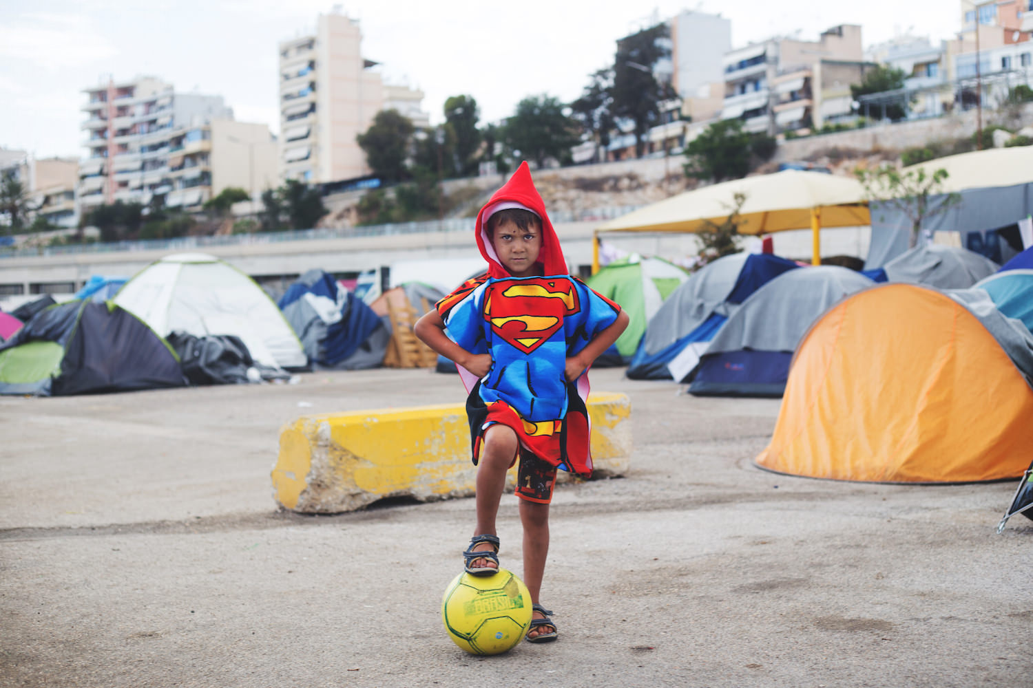 Mussa, a Kurdish-Syrian boy in Piraeus