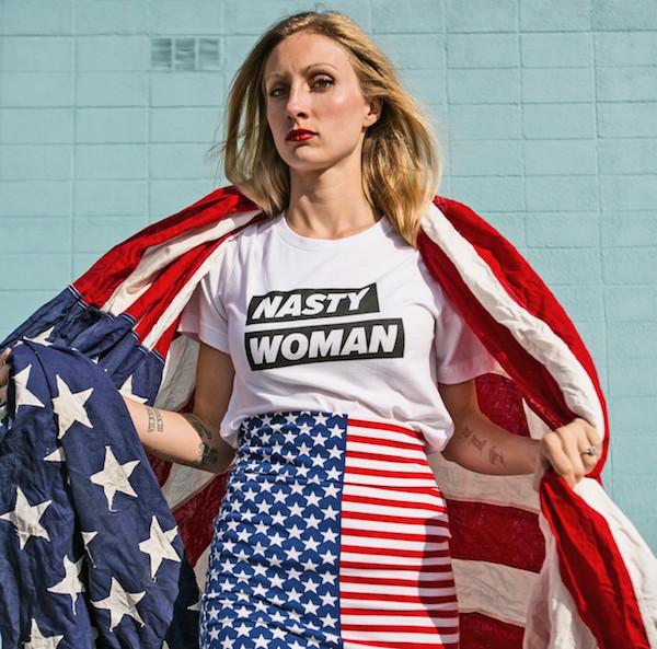 Nasty Woman t-shirt, Culture Flock. Image: Brenna Stark