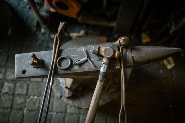 Kevin Boys - London blacksmith. Photo: Alexander Walker