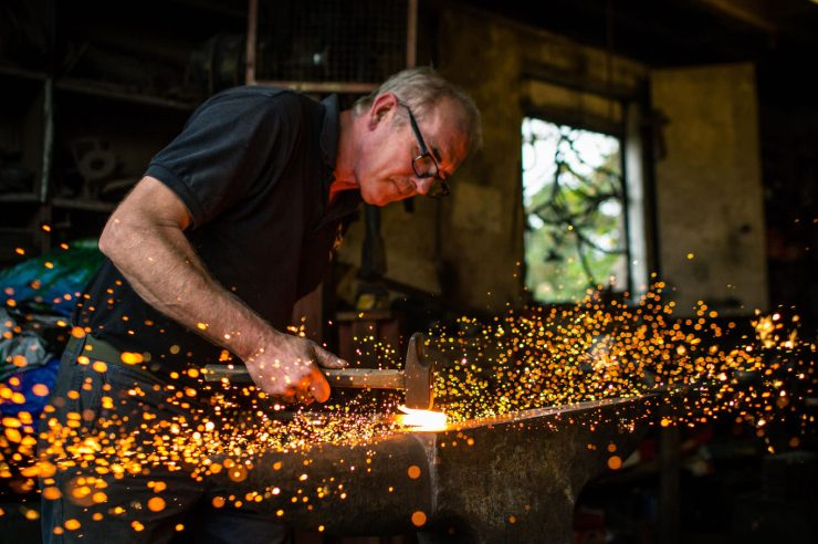 Image for Resparking an ancient craft: a London blacksmith