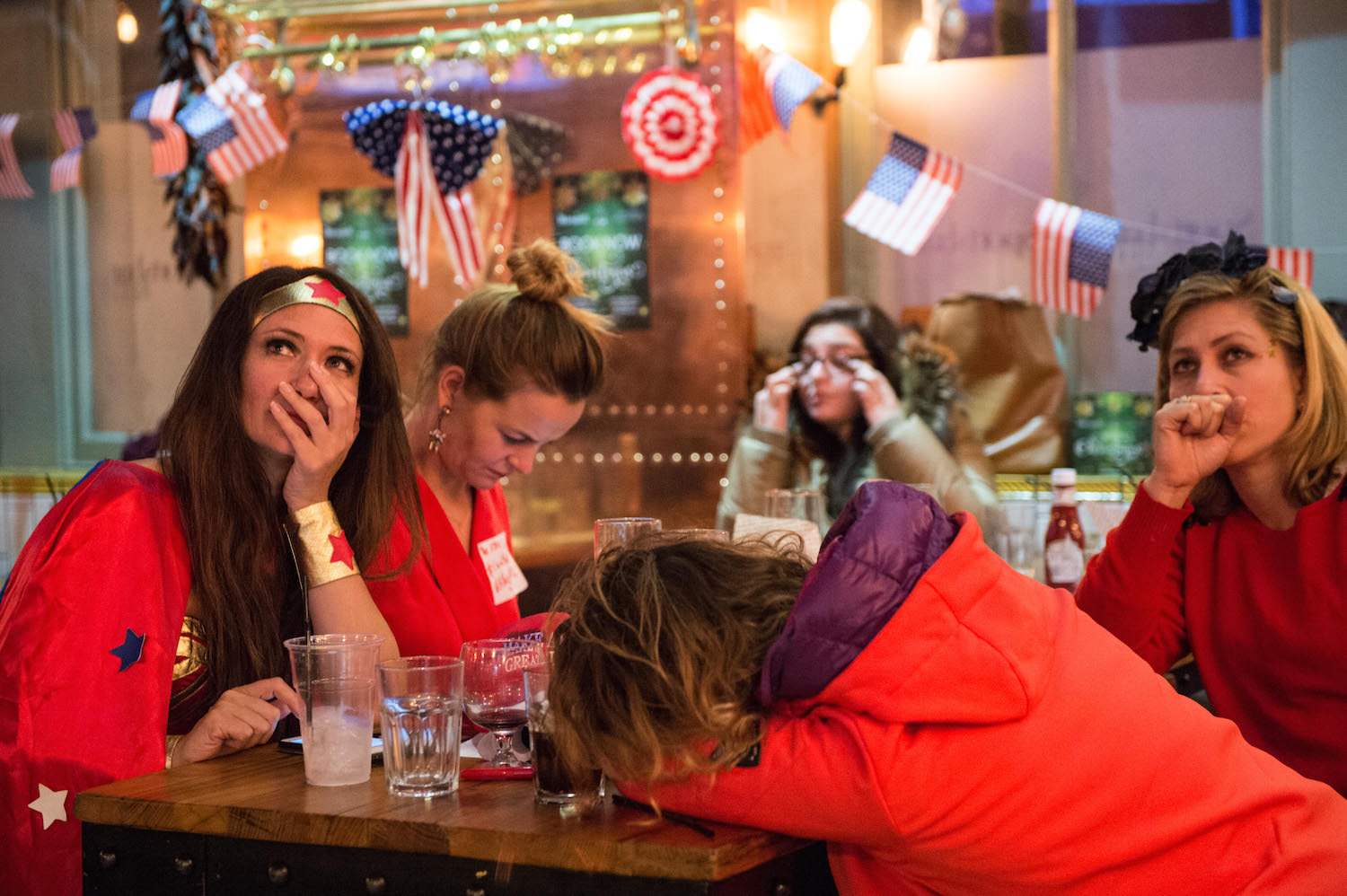 Democrat supporters in London react to the US election results. Image: Chris J Ratcliffe/Getty Images