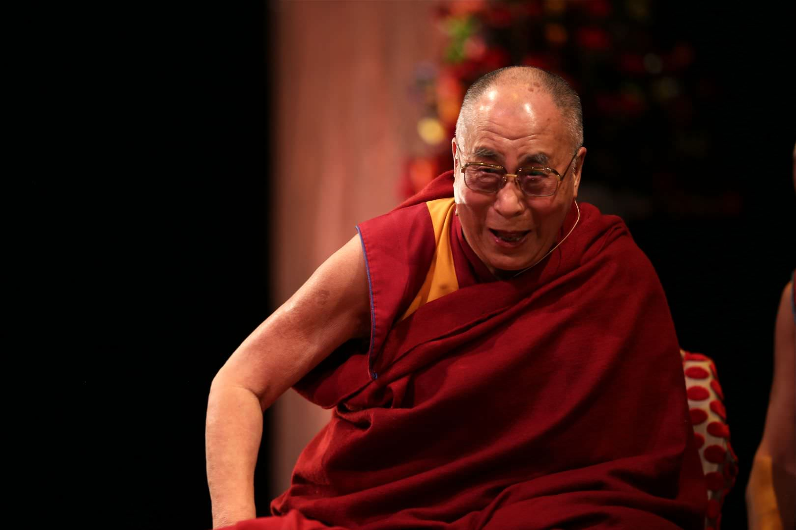 The Dalai Lama, a patron of the Action for Happiness, says that he joined because he wants to promote 'secular ethics' that are not based on any religion or tribal affiliation. Image: Action for Happiness
