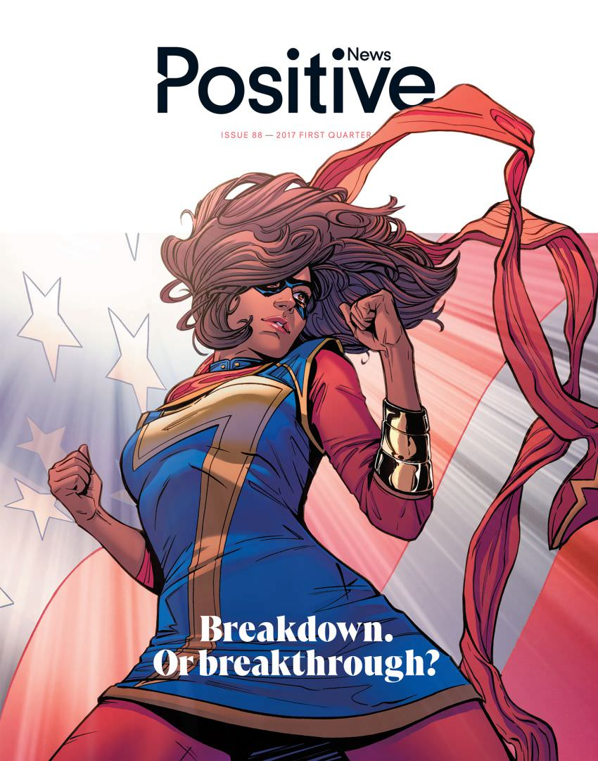 'It's time to unleash our potential' Positive News issue 88