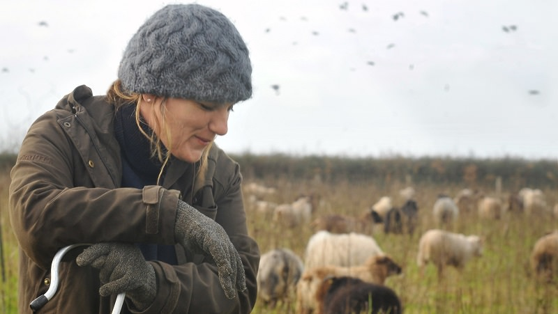 Rebecca Hosking, who has helped transform Village Farm into a wildlife haven. Photo: Village Farm