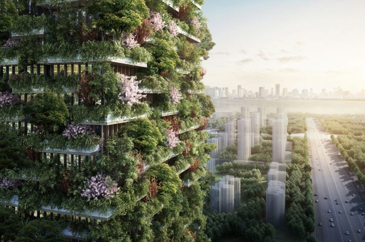 Image for The 'vertical forest' to combat pollution in China
