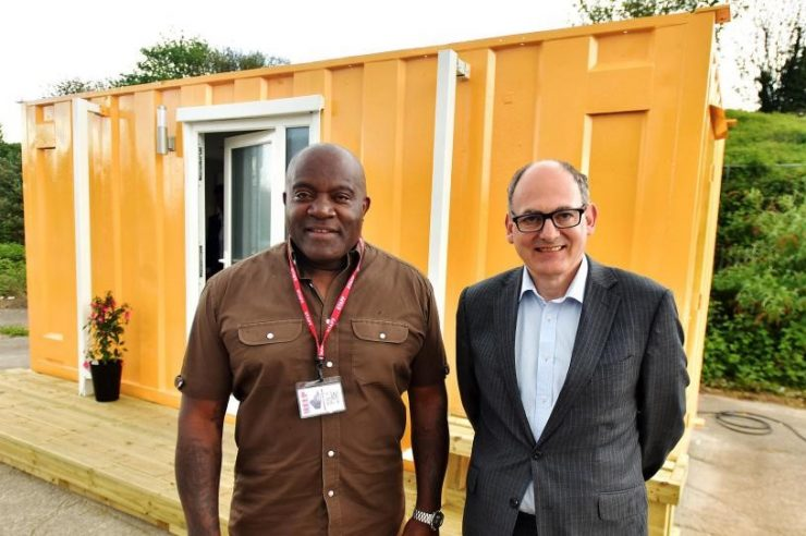 Image for The project transforming shipping containers into emergency homes for homeless people