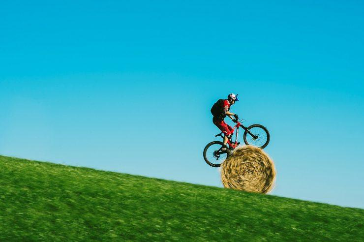 Image for The stunt cyclist who uses the countryside of his childhood as his playground