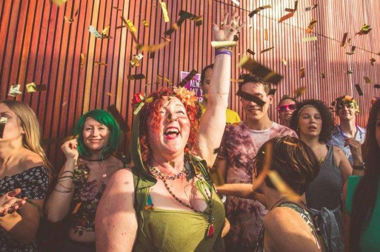 Image for Sober ravers mark ancient autumn celebration