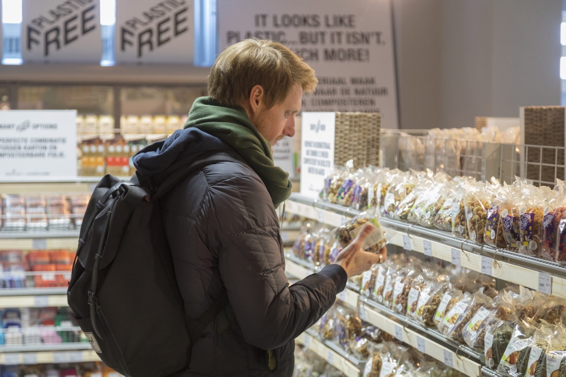 Image for World's first plastic-free supermarket aisle opens