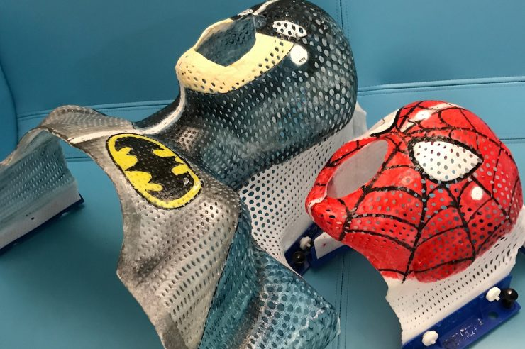 Image for A hero's welcome: how superhero masks are helping children through radiotherapy