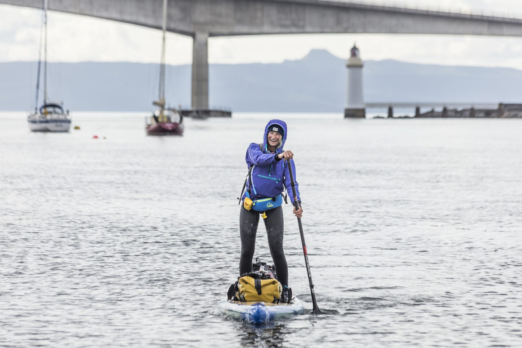 Image for Paddleboarder sets two world records in coast-to-coast plastic pollution challenge