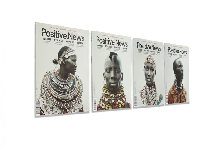 Image for Kenyan women's rights leaders feature in special cover series for latest Positive News magazine