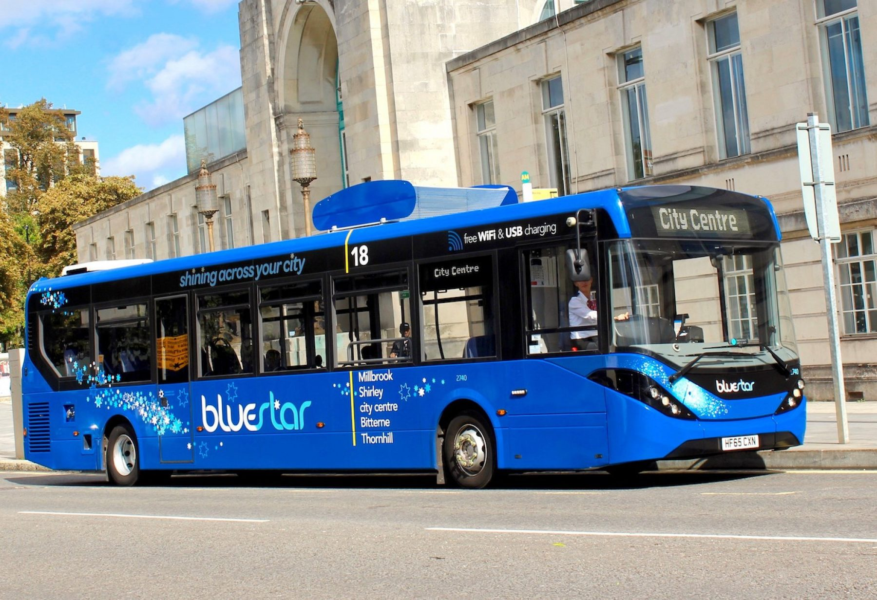 Image for Pollution-busting bus hits the roads to clean up urban air