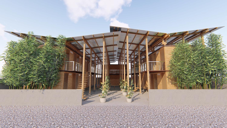 Bamboo housing wins prestigious architecture award