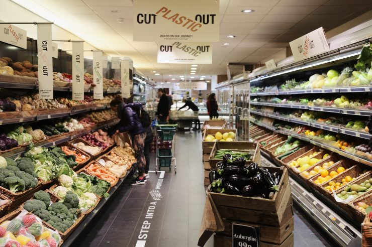 Image for London supermarket becomes one of the first mainstream chains to introduce plastic-free zones