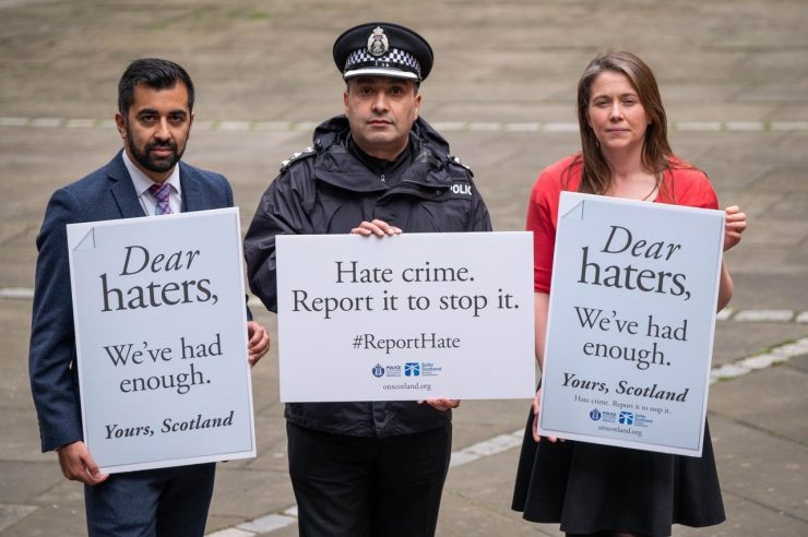 Image for Scotland's message to haters: 'you're not welcome here'