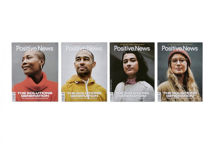 Image for The faces of change: the solutions generation shines in latest issue of Positive News magazine
