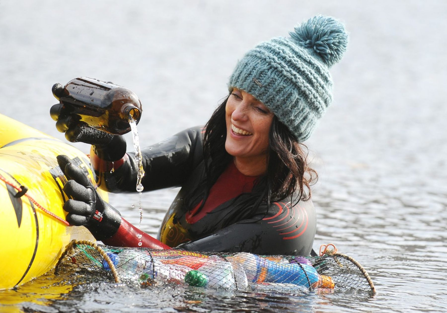 Image for Campaigner swims from summit of Snowdon to the sea to highlight plastic pollution