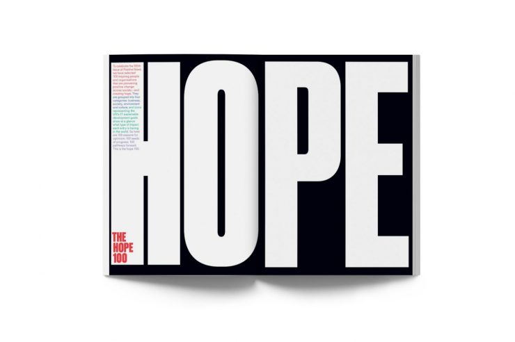 Image for Making hope the headline: Positive News magazine's 100 reasons for optimism in 2020
