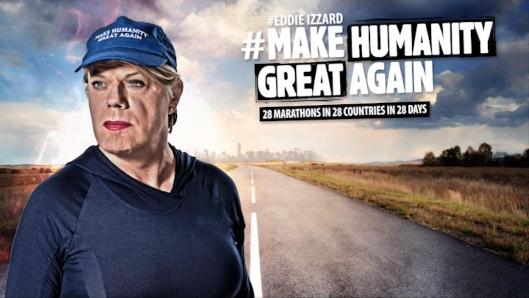 Image for Eddie Izzard undertakes Europe-wide marathon challenge to promote unity