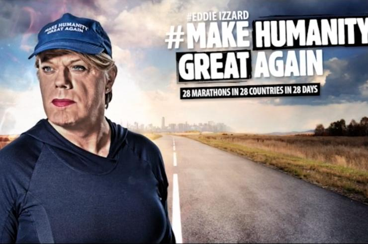 Image for Eddie Izzard undertakes Europe-wide marathon challenge to promote unity