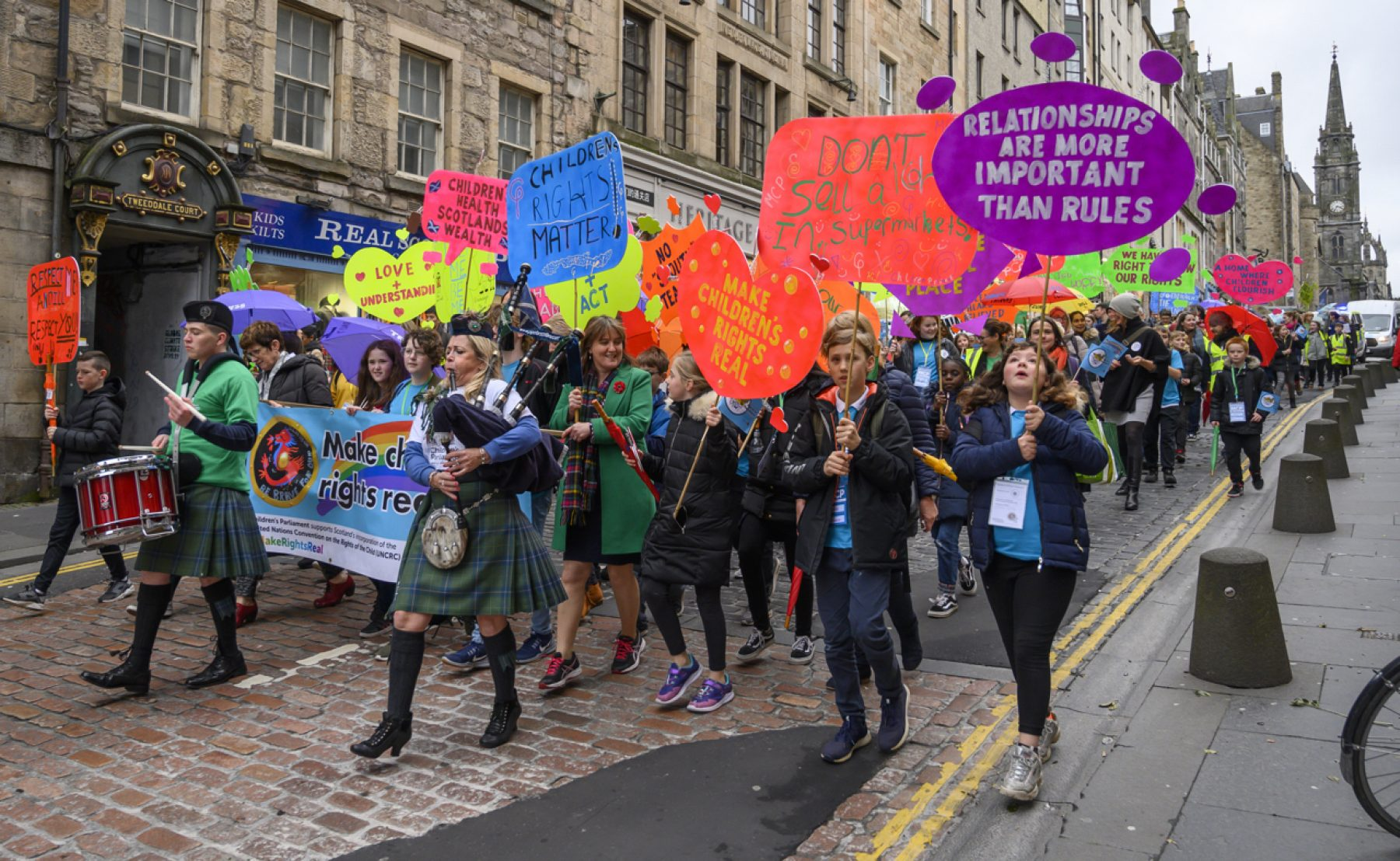 Image for Children march for their rights in Scotland
