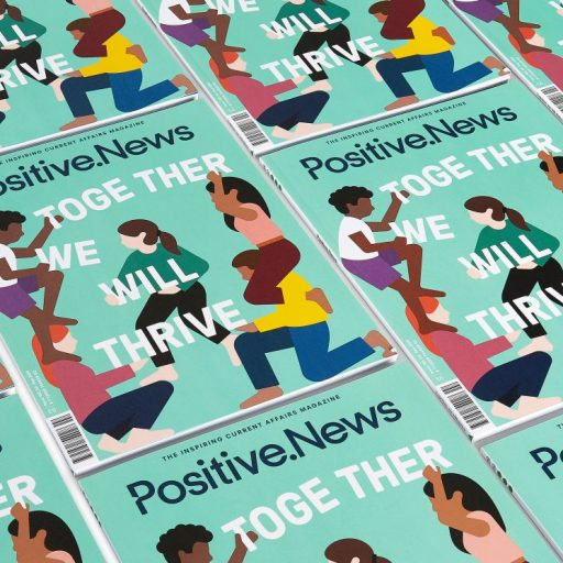 The new edition of Positive News magazine is out now