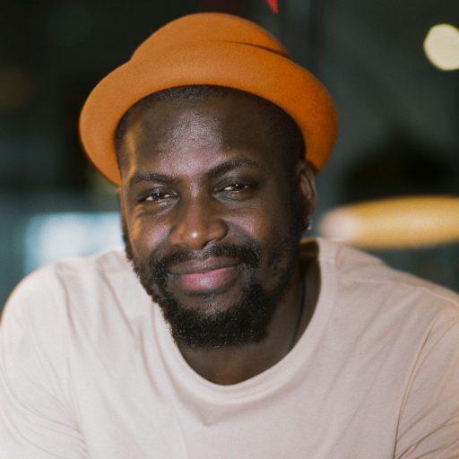 Derek Owusu celebrates black culture
