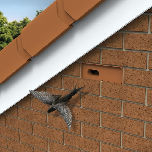 Wildlife-friendly construction: bird-friendly bricks