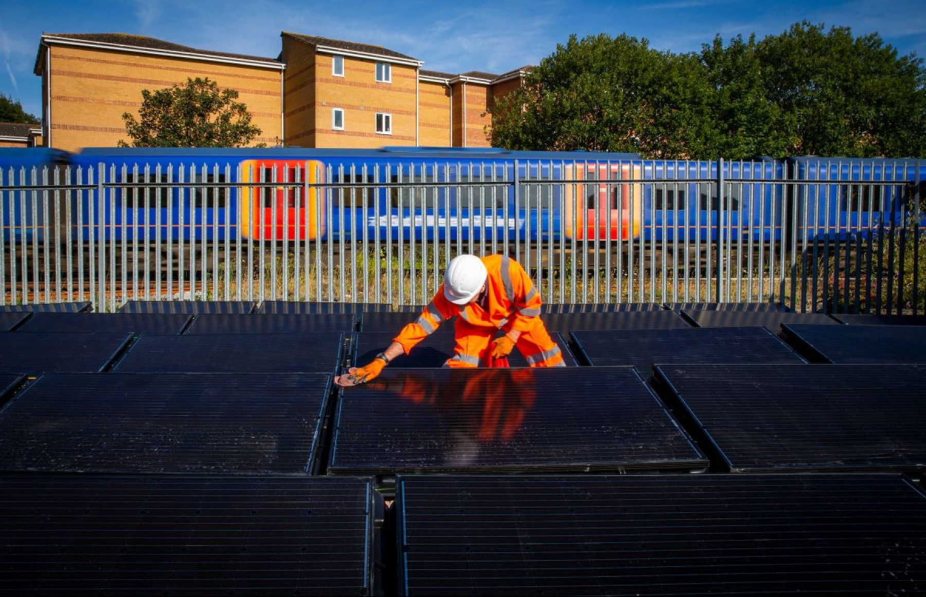 Image for On the right track: the UK railway that runs on solar power