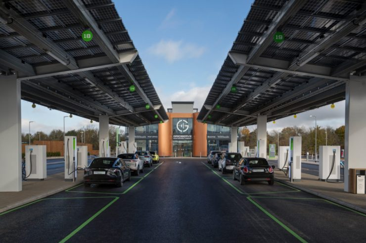 Image for The UK's first electric car forecourt opens for business