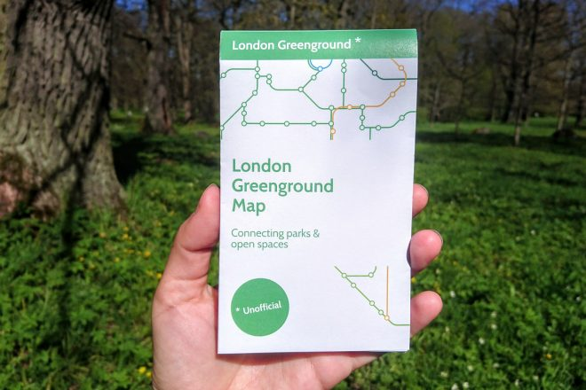 image for 'Tube map for walkers' links London's green spaces