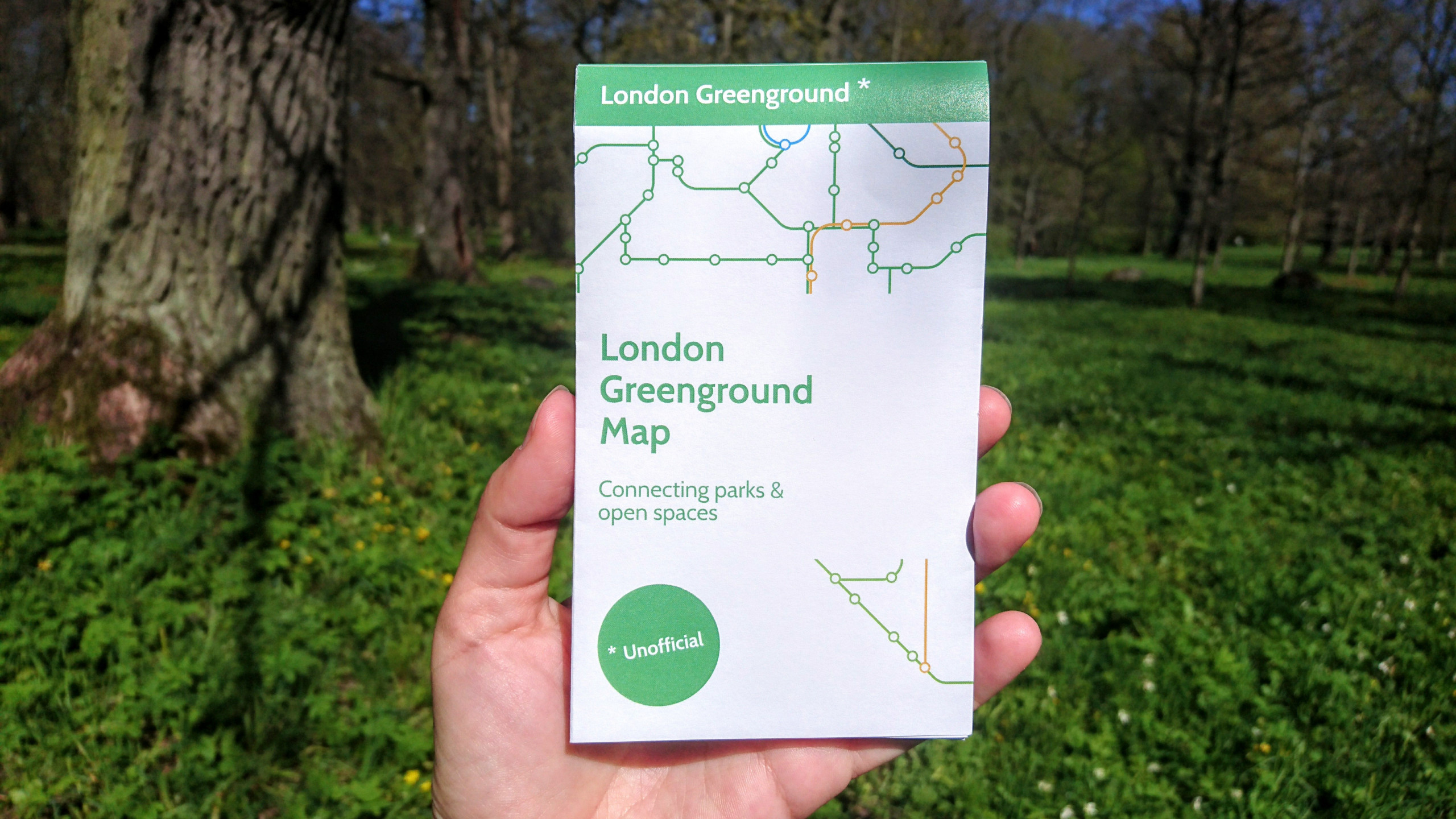 'Tube map for walkers' links London's green spaces - positive