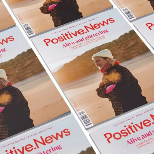 Latest edition of Positive News magazine