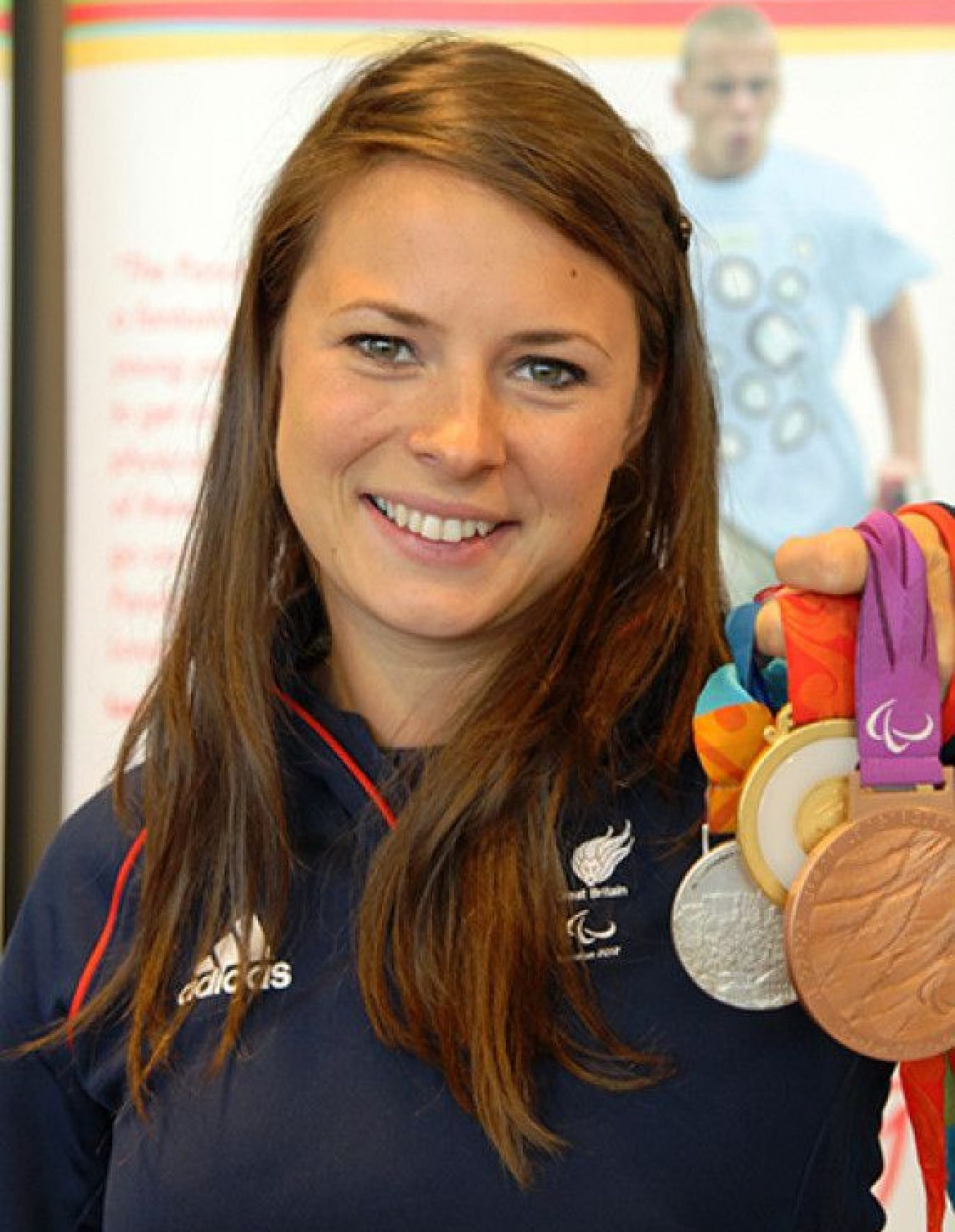 Johnson with her medals