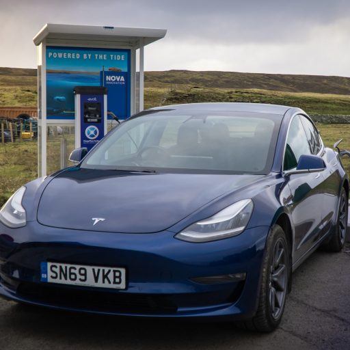 Positive news - sea-powered cars hit the road in Shetland this week
