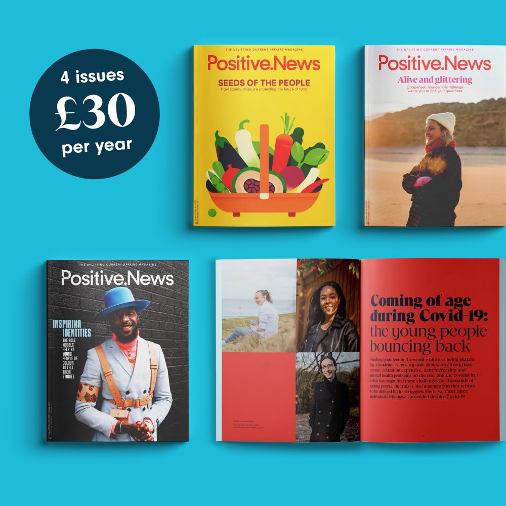 Positive News issue covers
