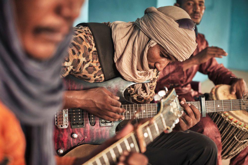 Making music in Mbera refugee camp