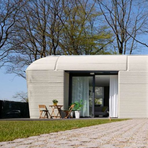Positive news: a couple moved in to Europe's first printed house this week