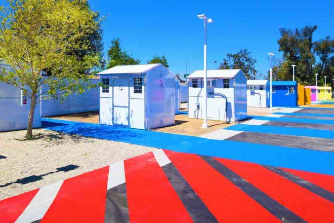 image for Hundreds of 'tiny homes' have appeared in LA for homeless people to live in