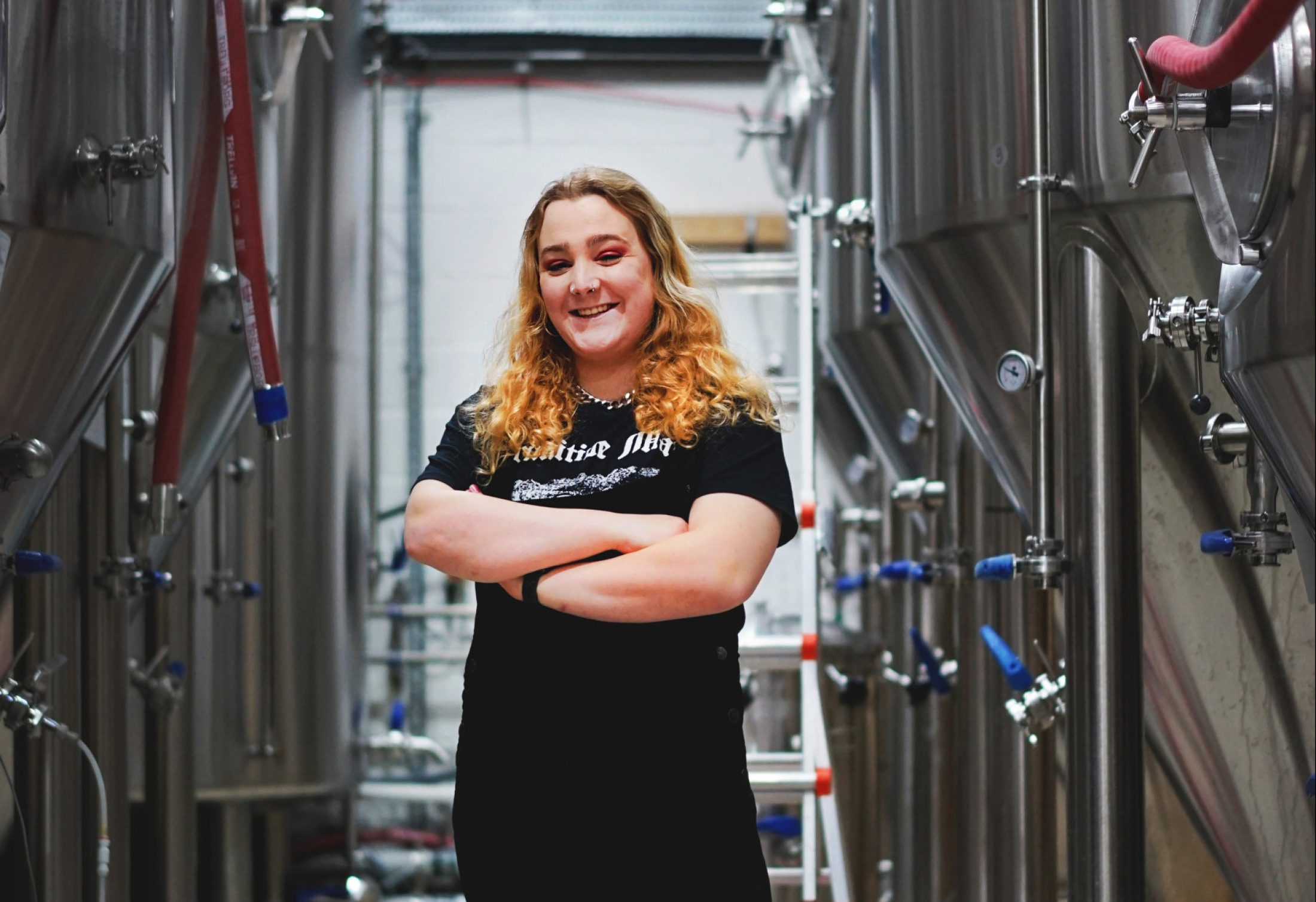 Portrait of Lily Waite, owner of Queer Brewing